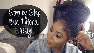 Step by Step: High Bun Crochet Braids Tutorial
