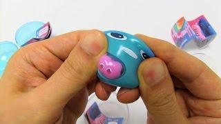 getlinkyoutube.com-Gachapin Mukku Squishy Squeeze Toy
