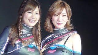 getlinkyoutube.com-スバルのレースクイーンBREEZE登場!! 東京オートサロン2015 / Tokyo Auto Salon