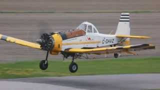 getlinkyoutube.com-[HD] **Rare** Two Pezetel M18 Dromader And Two M18A Dromader Taxiing and Taking off Together CSU3