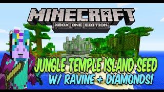 getlinkyoutube.com-Minecraft Xbox One/PS4 Amazing Jungle Temple Island Seed w/ Ravine & Diamond Loot!