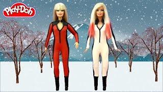 getlinkyoutube.com-Play Doh Barbie Dolls Costume Iggy Azalea - Black Widow ft. Rita Ora Makeover Play-Doh Craft N Toys