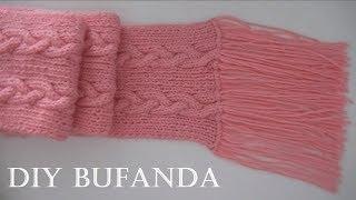 getlinkyoutube.com-Cómo tejer bufanda con trenzas reversibles en dos agujas