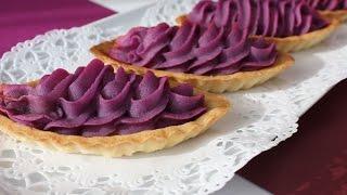 purple yam tarte 紅芋タルト作り方 レシピ なんちゃって紅芋タルト♪
