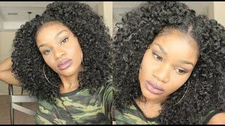 getlinkyoutube.com-Blending My 4B/4C Hair With My Into 3A U-Part Wig   SistaWigs.com