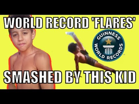 WORLD RECORD FOR FLARES SMASHED BY THIS 9 YEARS OLD FROM BRAZIL