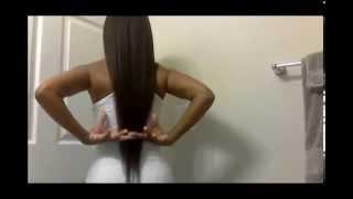 getlinkyoutube.com-Long & Relaxed Hair :  Relaxer Update