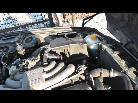 Радиатор газ 31105 (волга) на bmw 520i (кузов e34) Всё работает.