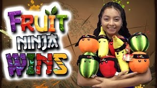 getlinkyoutube.com-Fruit Ninja Wins! The entire mini set! - Claw Machine Wins