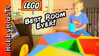 getlinkyoutube.com-Worlds BEST LEGO ROOM! Toys+Surprise Makeover Loft for HobbyFrog HobbyKidsTV