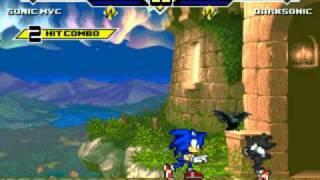getlinkyoutube.com-Mugen Dark Sonic vs Sonic Mvc Part 1