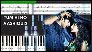 getlinkyoutube.com-♫ Tum Hi Ho (Aashiqui 2) || Piano Tutorial + Music Sheet + MIDI with Lyrics