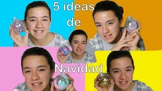 getlinkyoutube.com-5 ideas para decorar bolas de Navidad