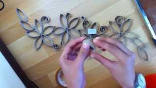 getlinkyoutube.com-DIY FLORES CON ROLLOS DE PAPEL,  DIY FLOWERS WITH PAPER ROLL