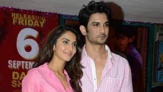 Sushant Singh Rajput And Vani Kapoor At Gulaabi Song Launch