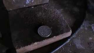 getlinkyoutube.com-How To Make Two Sided Coin Rings - Annealing SILVER & SPAREX