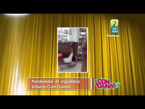 Zuriel baila merengue en Con Ganas mientras presentan los videos chuscos