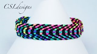 getlinkyoutube.com-Square knot weave macrame bracelet