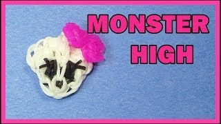 getlinkyoutube.com-Rainbow Loom EASY: MONSTER HIGH Charm Tutorial