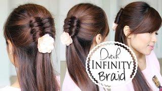 getlinkyoutube.com-Dutch Infinity Braid Tutorial | Half Updo Prom Hairstyles