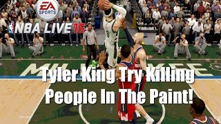 getlinkyoutube.com-NBA Live 16 Rising Star - Debut Game! Tyler King Try To Kill People In The Paint OMG