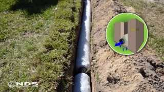 getlinkyoutube.com-EZ Drain french drain installation: the gravel free alternative