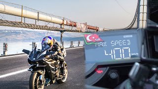 getlinkyoutube.com-KAWASAKİ H2R TOP SPEED RECORD 0-400km/h 26 second.