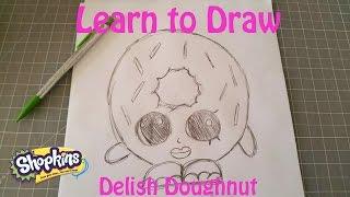 getlinkyoutube.com-Learn to Draw Shopkins Delish Doughnut
