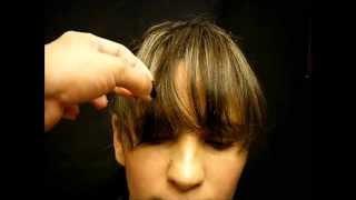 getlinkyoutube.com-COMO CORTAR EL FLEQUILLO (PARA TODO TIPO DE ROSTROS) How to cut bangs?