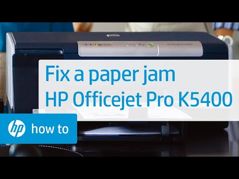 Fixing a Paper Jam - HP Officejet Pro K5400 Printer