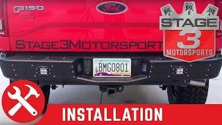 getlinkyoutube.com-2015-2016 F-150 Rogue Racing Revolver Rear Off Road Bumper Install
