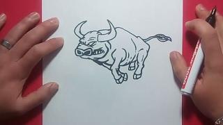 getlinkyoutube.com-Como dibujar un toro paso a paso 3 | How to draw a bull 3