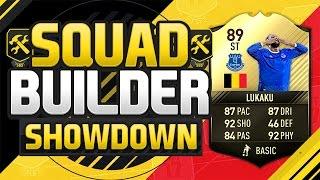 FIFA 17 SQUAD BUILDER SHOWDOWN!!! 89 RATED FOURTH INFORM LUKAKU!!! 89 Rated Romelu Lukaku Squad Duel