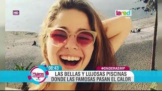 getlinkyoutube.com-Así se refrescan en sus piscinas algunos rostros de la televisión chilena