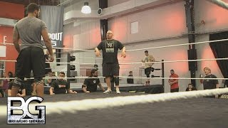 getlinkyoutube.com-WWE Network: Regal and Bloom get upset over the issue of footwork: WWE Breaking Ground, Nov. 2, 2015