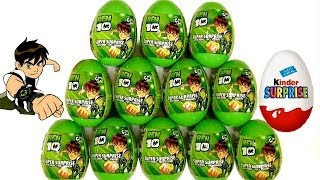 getlinkyoutube.com-Ben10 Surprise Eggs Kinder Surprise From Cartoon Network by Blutoys Play-Doh Sorpresa Huevos