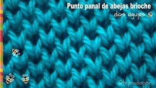 getlinkyoutube.com-Punto panal de abejas brioche tejido en dos agujas - Tejiendo Perú!