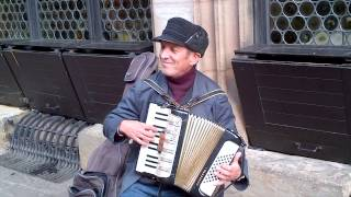getlinkyoutube.com-Strasbourg France Street Performer on Accordion -  La Foule (cover)  & Those Were the Days (cover)