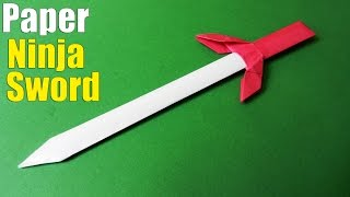 getlinkyoutube.com-How to make a Paper Sword | Ninja Sword Tutorial