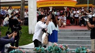 getlinkyoutube.com-キャスト260人!!フラッシュモブプロポーズ IN レオマワールド ~世界で一つだけのプロポーズ~2015.6.27~ Flash Mob Surprise Proposal