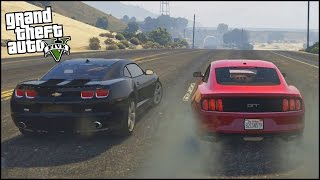 getlinkyoutube.com-GTA 5 New Ford Mustang GT 2015 With Street Racing Car Mods! (GTA 5 Mods Showcase)
