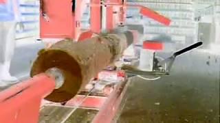 getlinkyoutube.com-LL-41 log lathe (log turning machine)