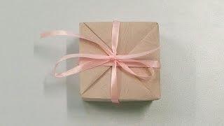 DIY  | أشغال يدوية بالورق| طريقة عمل| صندوق أو علبة للهدايا |بورقة واحدة | Gift Box