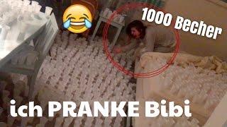 getlinkyoutube.com-Ich PRANKE Bibi / 1000 Becher mit Wasser 😳😂 | Julienco