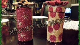 getlinkyoutube.com-Como hacer adornos de Navidad RECICLADOS...... Recycled Ornaments