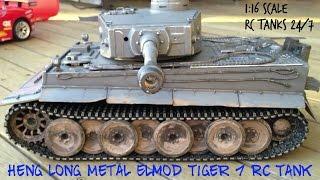 getlinkyoutube.com-Heng Long Metal RC 1:16 Tiger Tank Elmod Driving Test