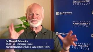 Dr Marshall Goldsmith greets you to Singapore Management Festival 2016