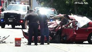 Rahway  - Fatal Head-On Collision -  St Georges Ave