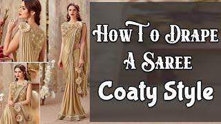 getlinkyoutube.com-How To Drape A Saree | Coaty Style | Quick Saree Draping Tutorial