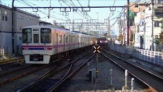 平日朝の京王電鉄京王線つつじヶ丘駅